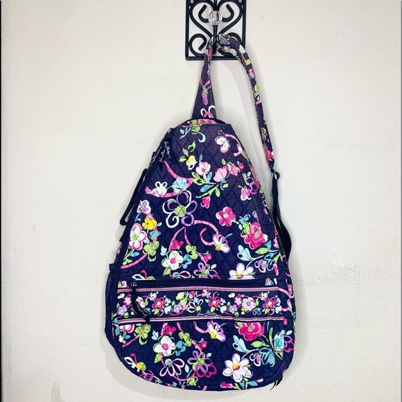 Vera Bradley sling tennis floral backpack